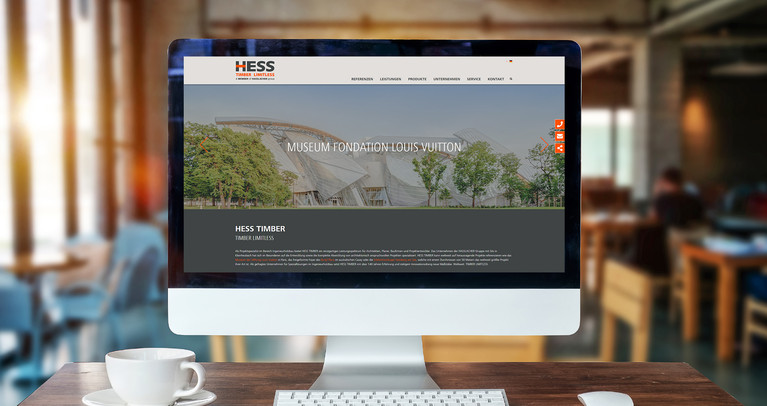 Website für HESS Timber | Web & SEO Referenzen
